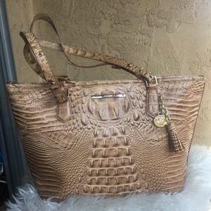Brahmin alligator leather purse